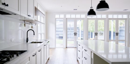 Kitchen Reno with French Doors